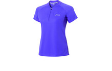 Asics Women's L3 Run Short Sleeve Top 1/2 Zip purple op